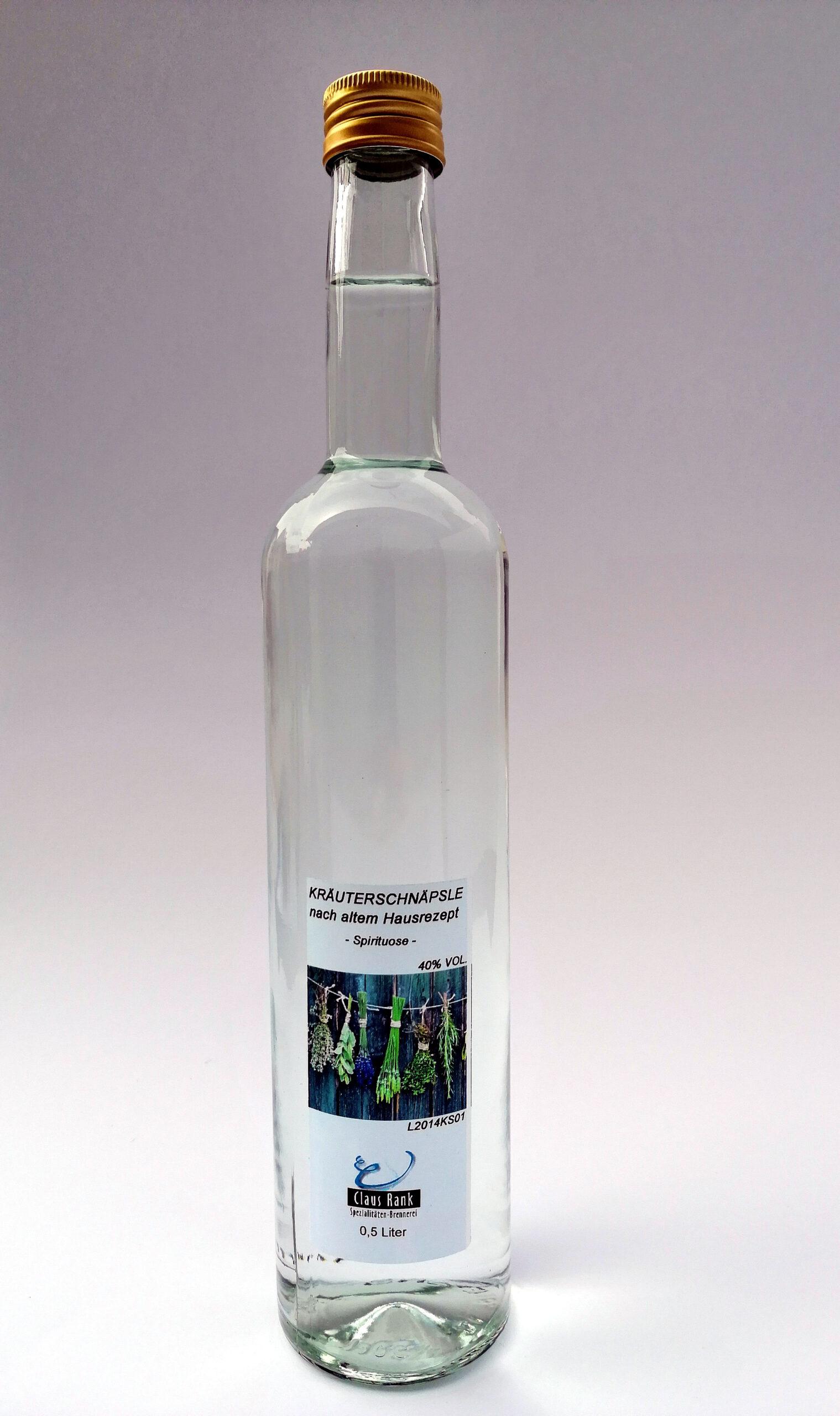 Kräuterschnäpsle, 0,5 Liter